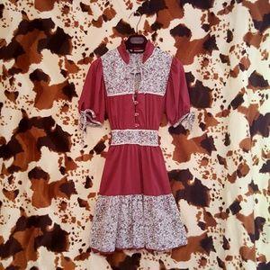 Vintage boho mini dress